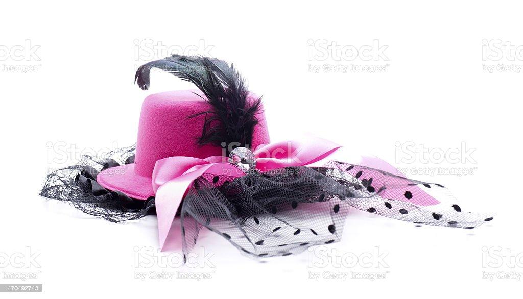 pink headdress stock photo