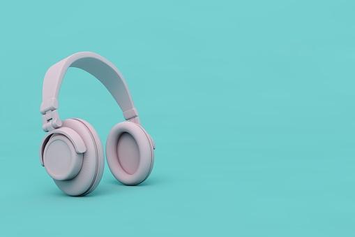 3D Pink Headphones