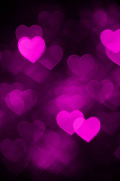 Pink Heart Bokeh Background Photo Abstract Holiday Backdrop Stock