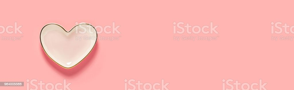 Pink heart dish - Royalty-free Above Stock Photo