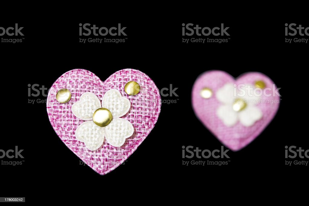 Pink heart royalty-free stock photo