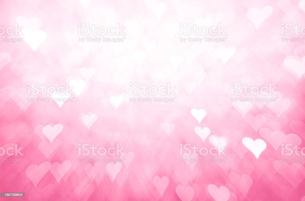 Pink heart shape background stock photo