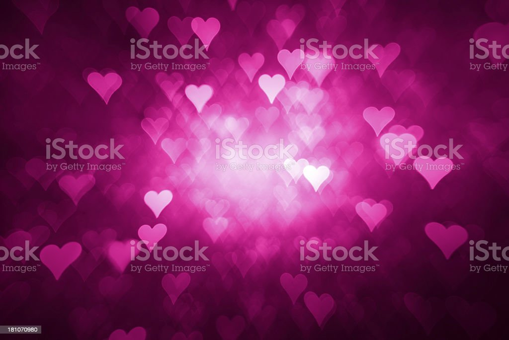 Pink heart shape background royalty-free stock photo