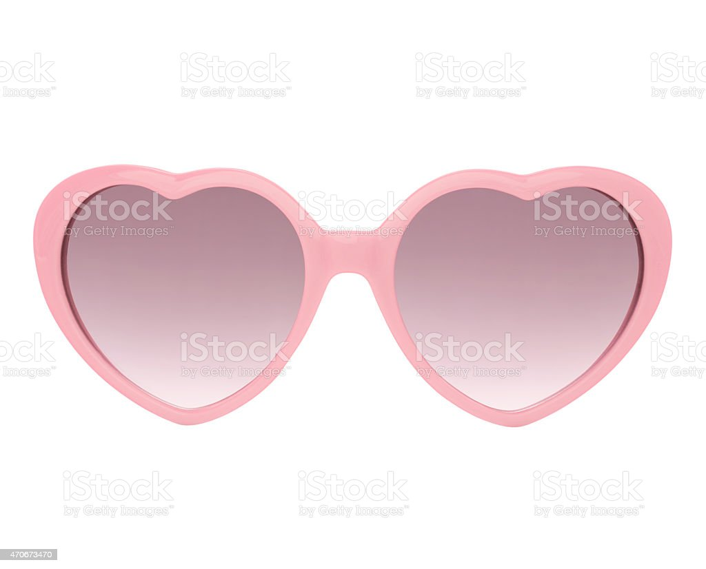 Pink heart shaped Sunglasses (with 2 paths)