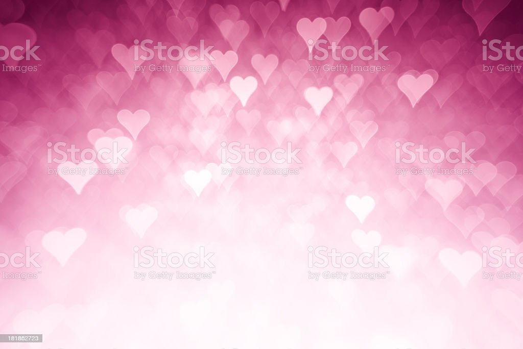 Pink hearts background stock photo