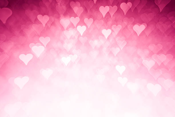 pink hearts background - high key stock pictures, royalty-free photos & images