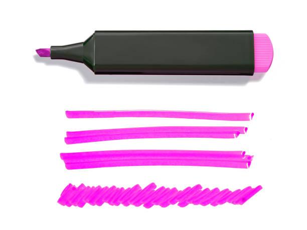 rosa textmarker und doodles - scribble stock-fotos und bilder