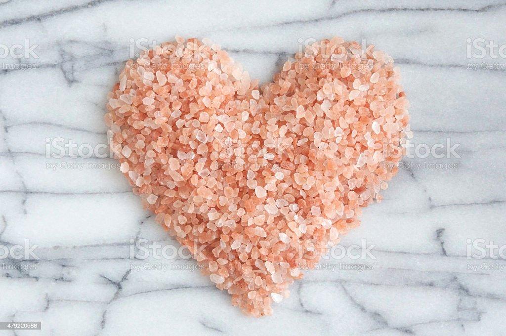Pink Himalayan Rock Salt Heart stock photo