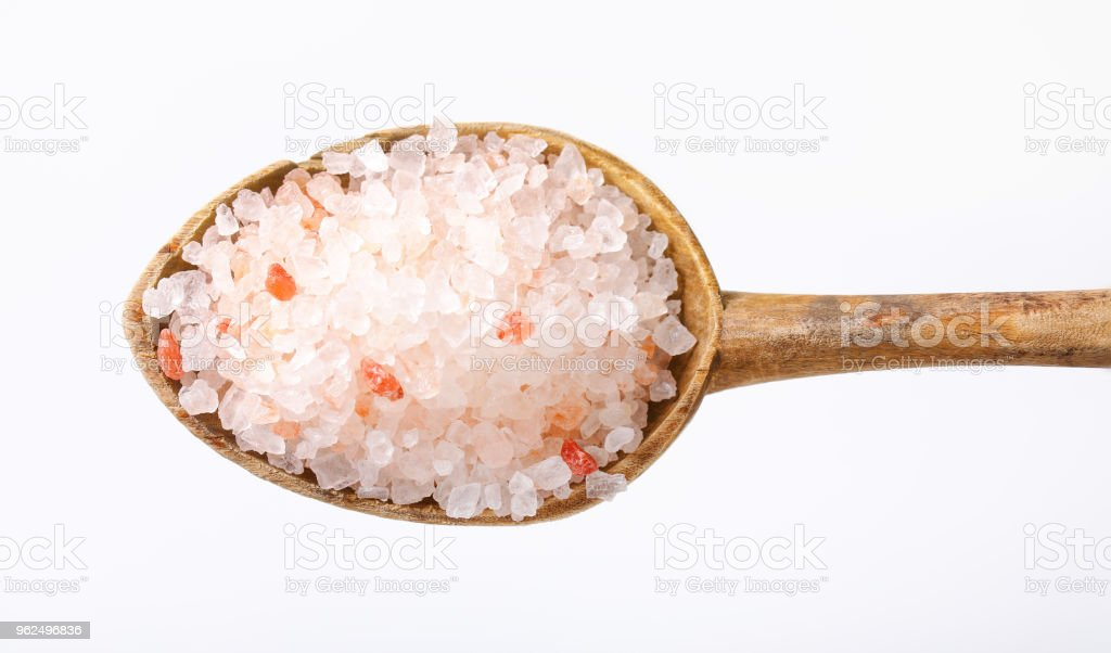 Pink Himalayan Salt stock photo