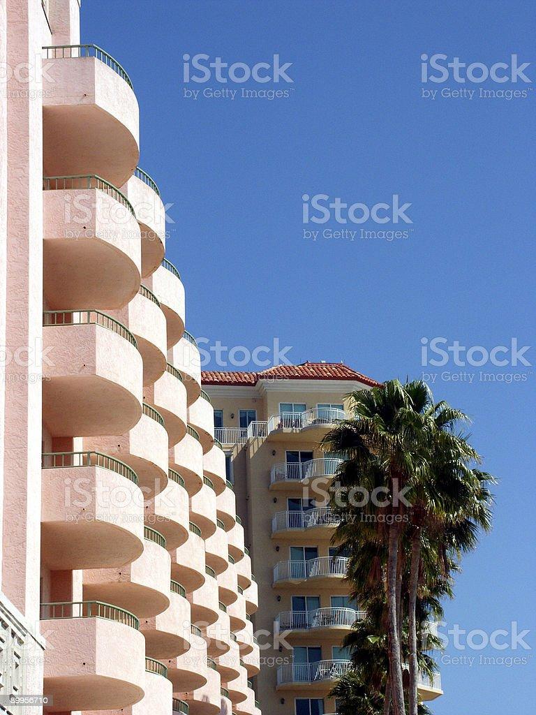Pink Hotel stock photo