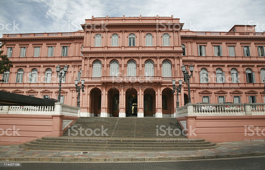 Pink House in Buenos Aires stock photo