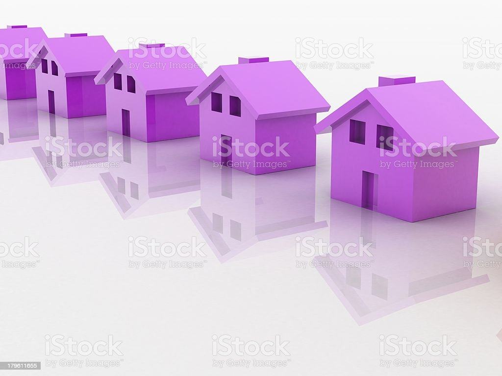 Pink house royalty-free stock photo