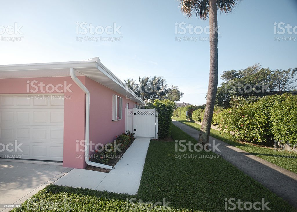 Pink House royalty free stockfoto