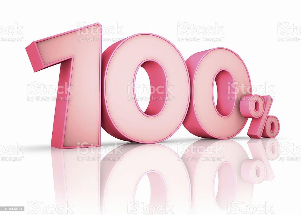 Pink Hundred Percent stock photo
