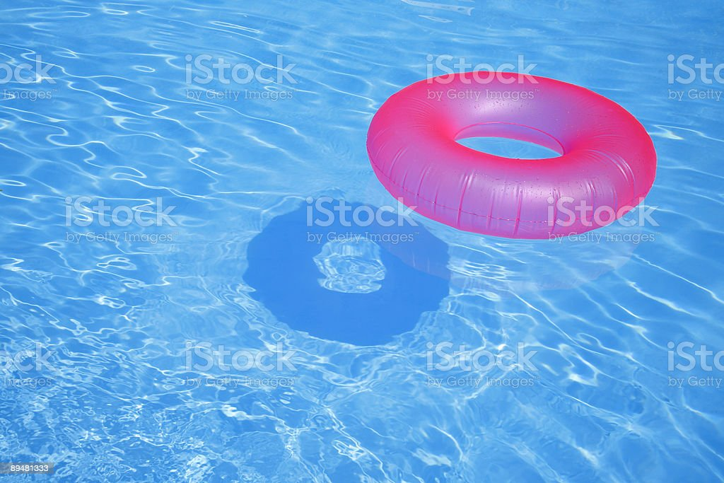 Pink Inflatable Ring stock photo