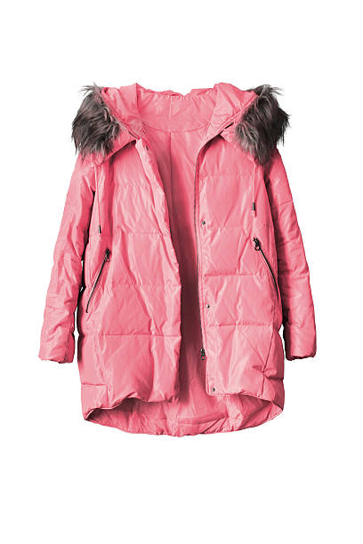 pink jacket isolated - ダウンジャケット ストックフォトと画像