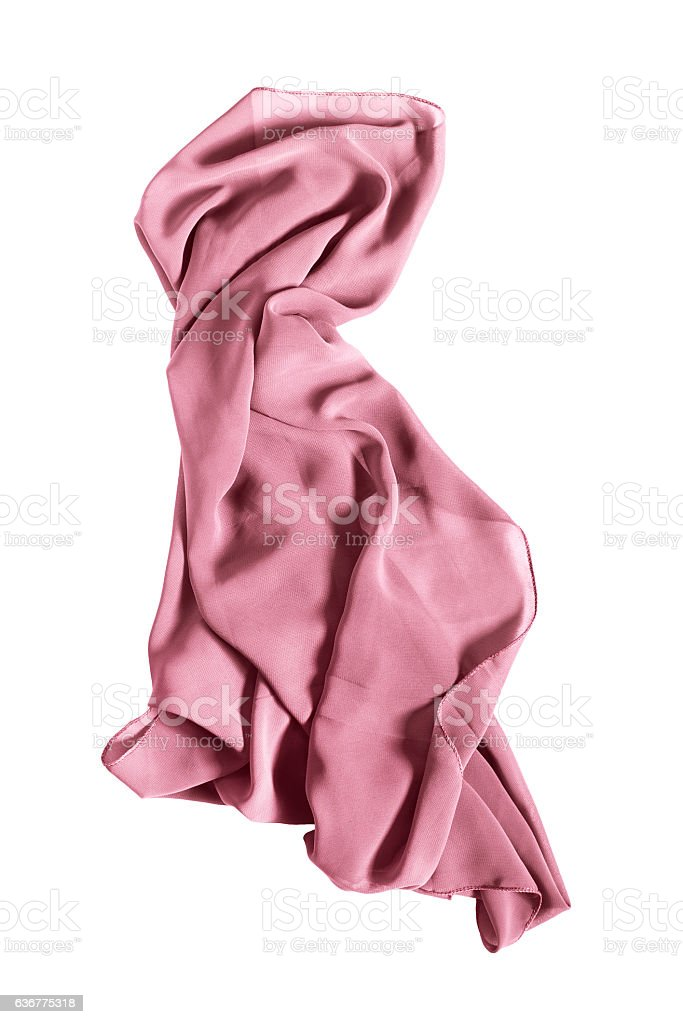 Pink kerchief isolated royalty-free stock photo