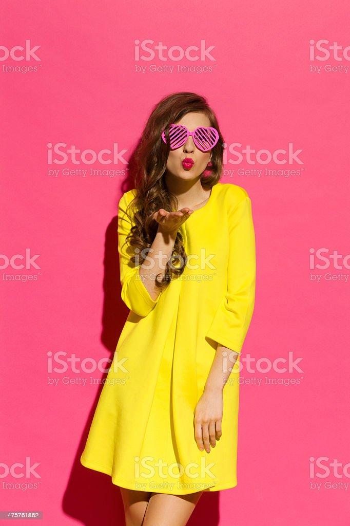 Pink Kiss stock photo
