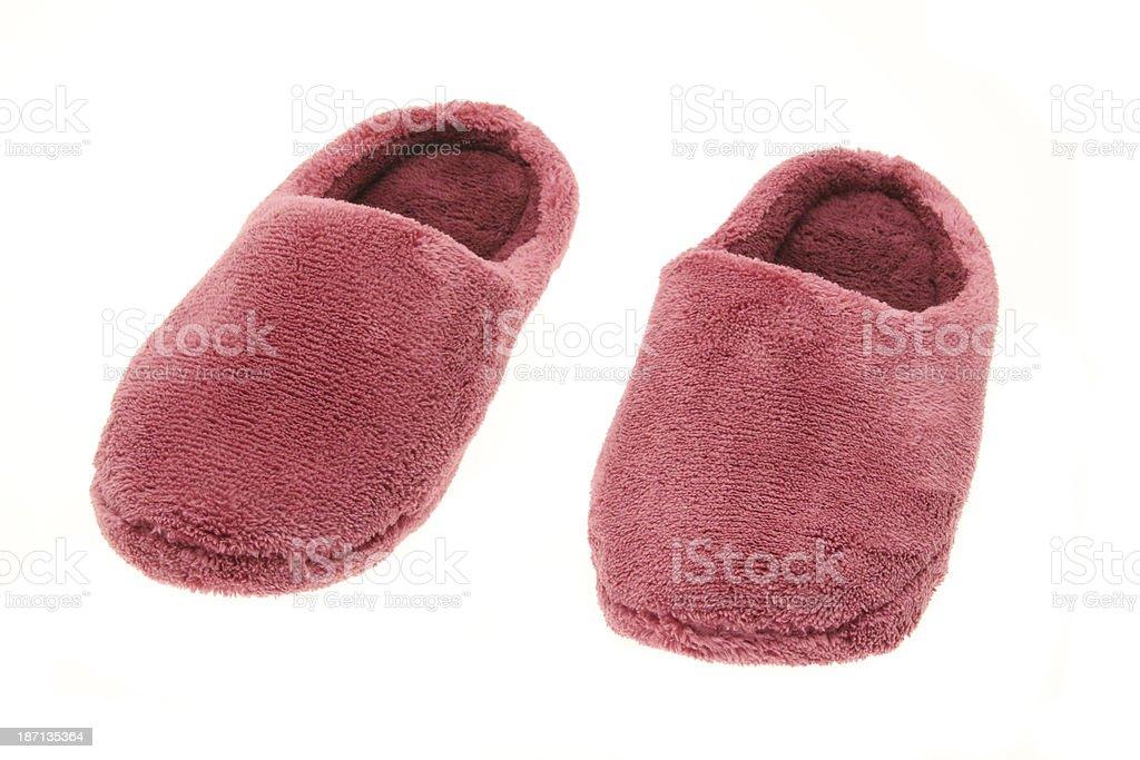Rosa señoras pantuflas foto de stock libre de derechos