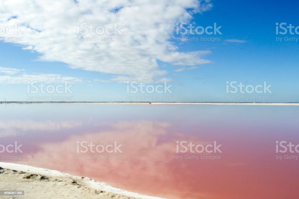 Pink Lagoon stock photo