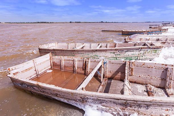 Pink lake, Senegal stock photo