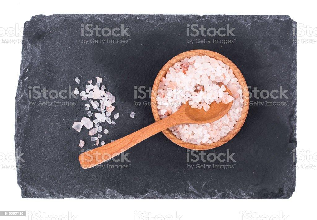 Pink large Himalayan salt stock photo