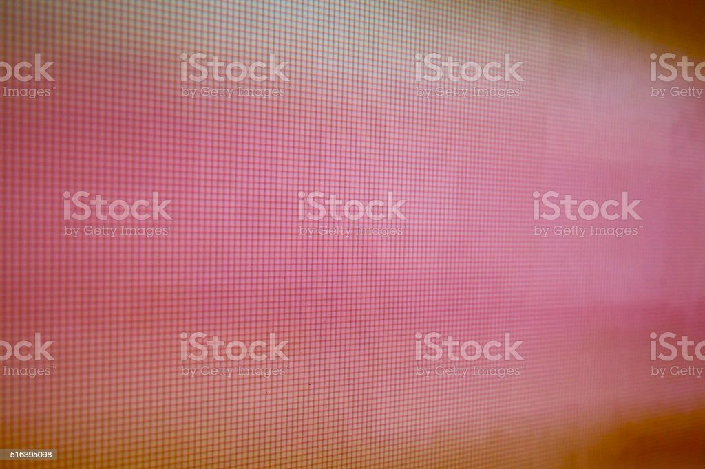 pink LCD movie projector broadcast digital noise electronic signal failure stock photo