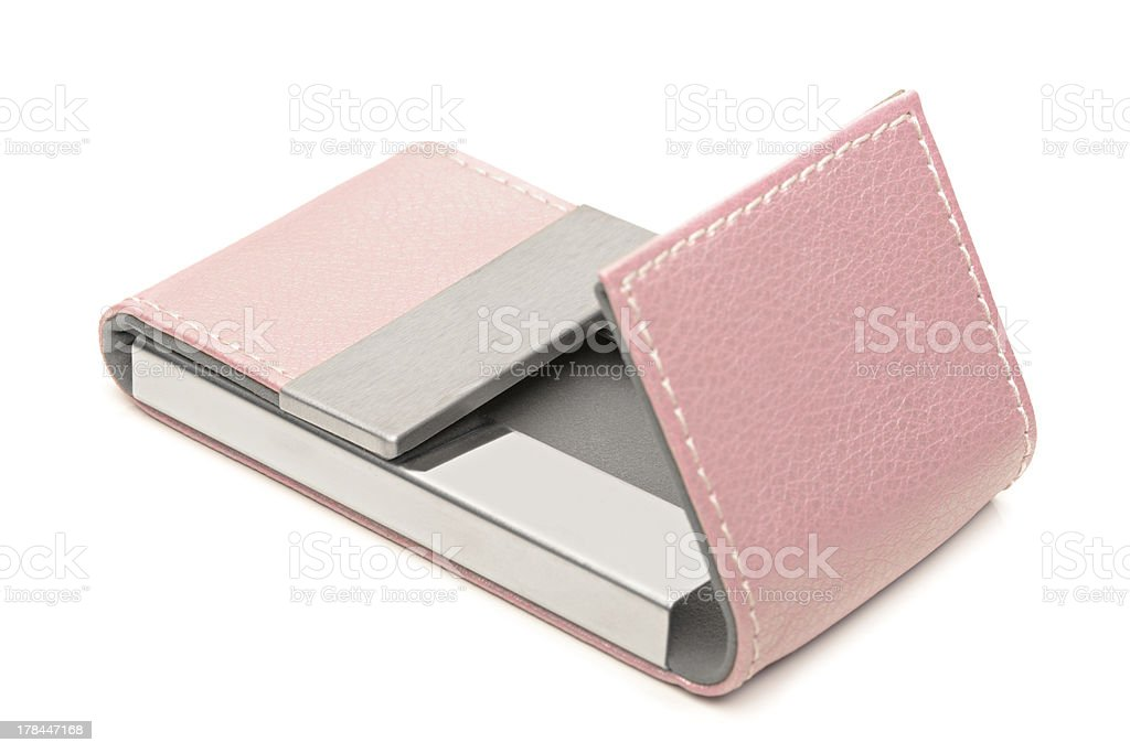 Pink Leather Business Card Holder stock photo | iStock
