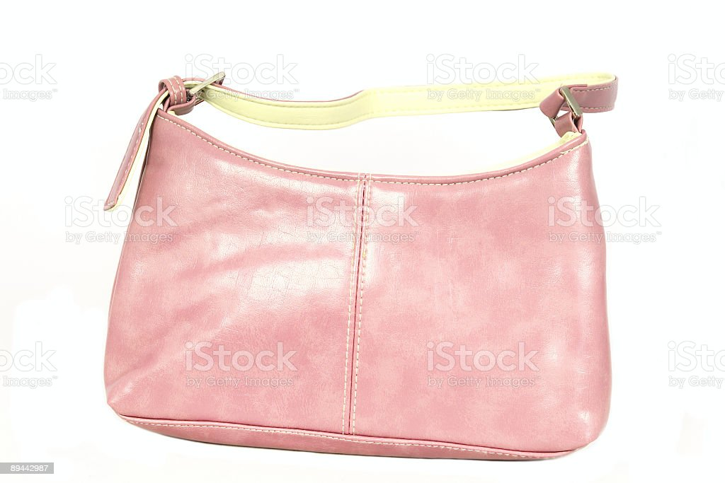 Pink leather handbag royalty-free stock photo