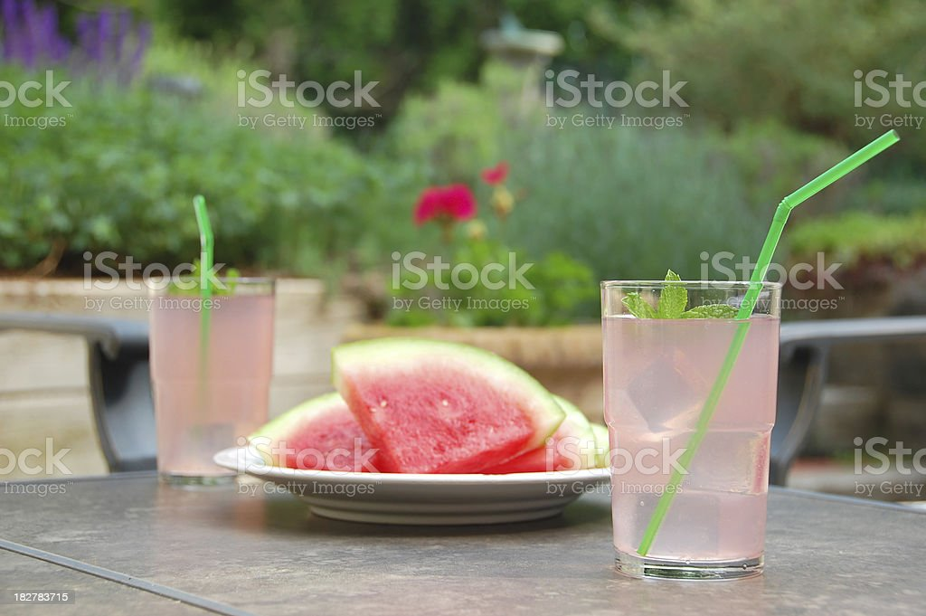 Pink Lemonade on the Patio royalty-free stock photo