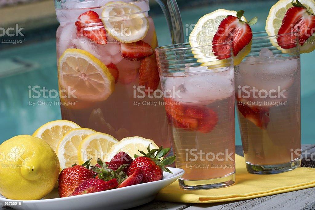 Pink lemonade royalty-free stock photo