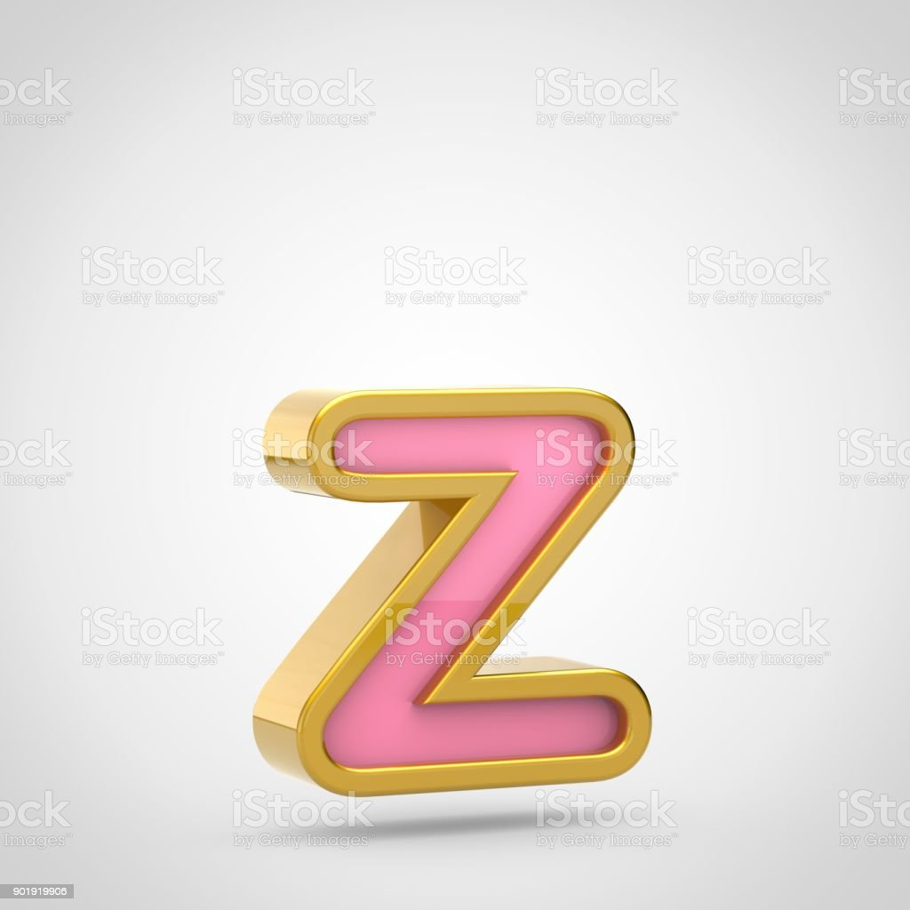 Pink letter z lowercase with golden outline isolated on white pink letter z lowercase with golden outline isolated on white background royalty free stock spiritdancerdesigns Image collections