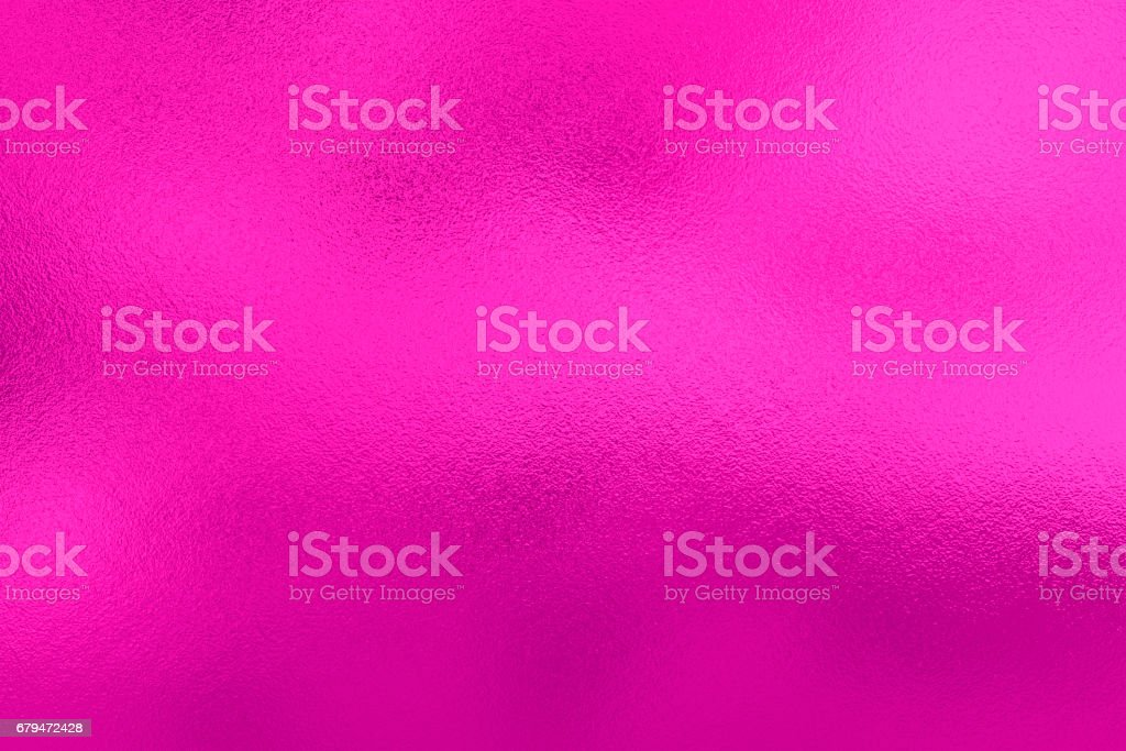 Pink lilac foil background, metal texture stock photo