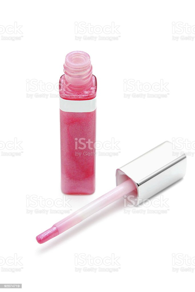 Pink lip gloss royalty-free stock photo
