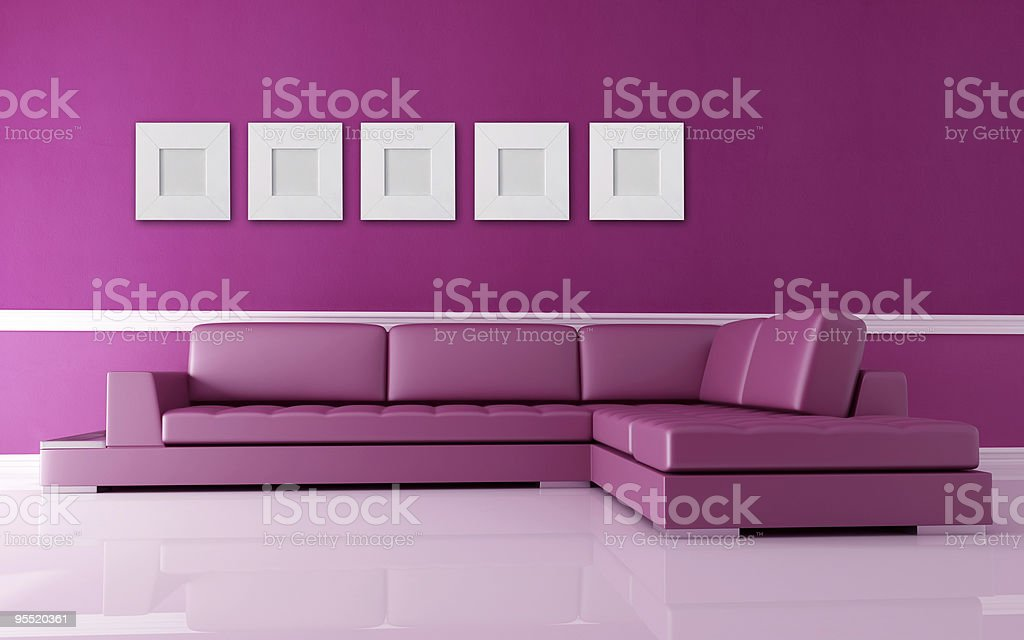 pink living room royalty-free stock photo