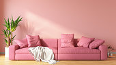 istock Pink Living Room with Sofa 1266297757