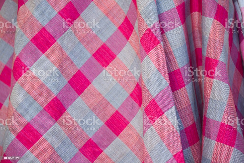 pink loincloth dress pattern of Thailand product stock photo