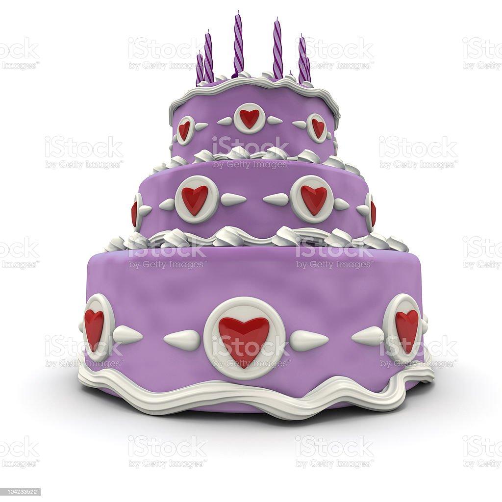 Pink Love cake royalty-free stock photo