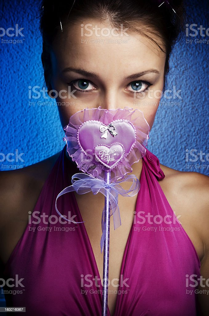 Pink Love royalty-free stock photo