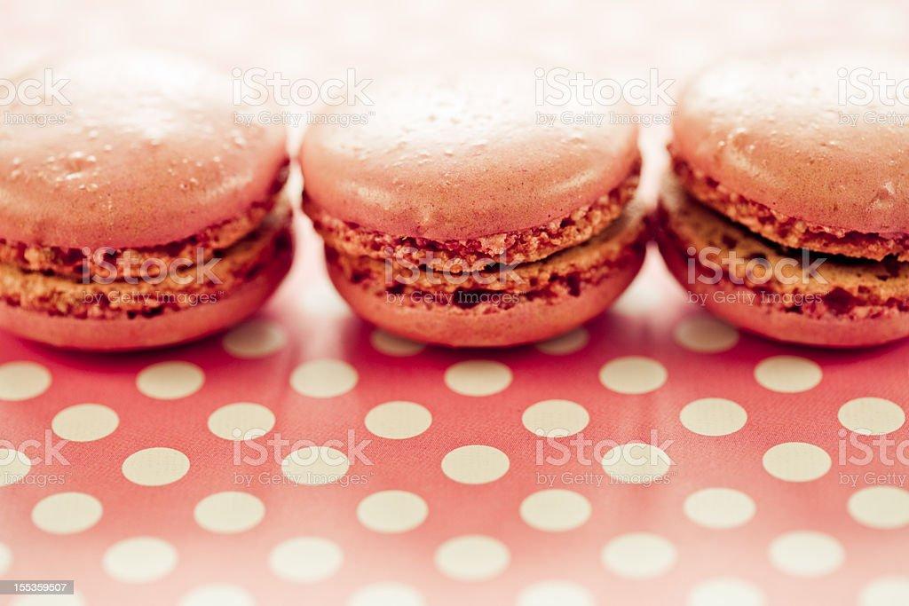Pink Macaroons royalty-free stock photo