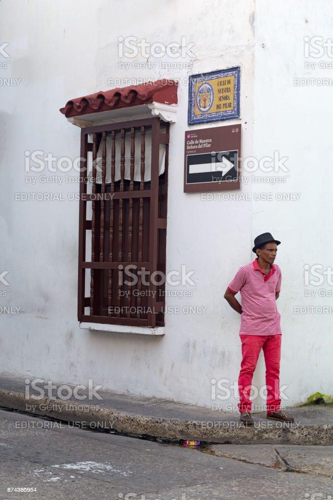 Pink Man stock photo