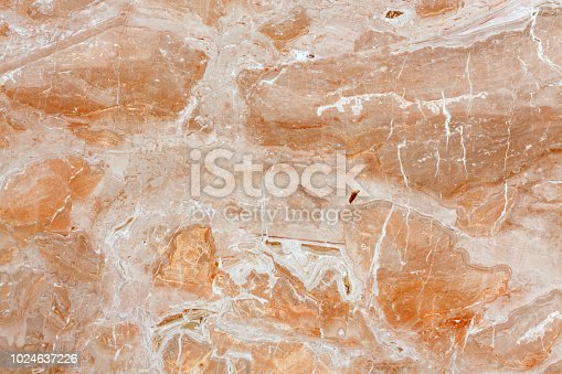 istock Pink marble texture background on macro. High resolution photo 1024637226