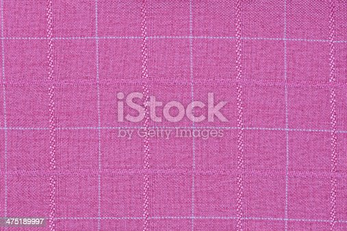 Pink material into grid, a textile background or texture