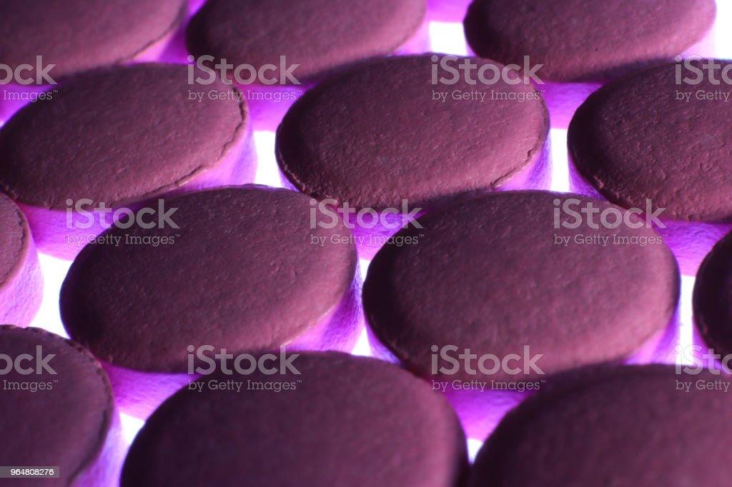 Pink Medicine Tablets. Pharmacy Pills Background. Macro Closeup. royalty-free stock photo