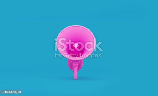 istock Pink Megaphone Forming over Teal Background 1194397013