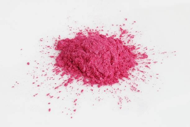 pink mica pigment powder - łupek łyszczykowy zdjęcia i obrazy z banku zdjęć