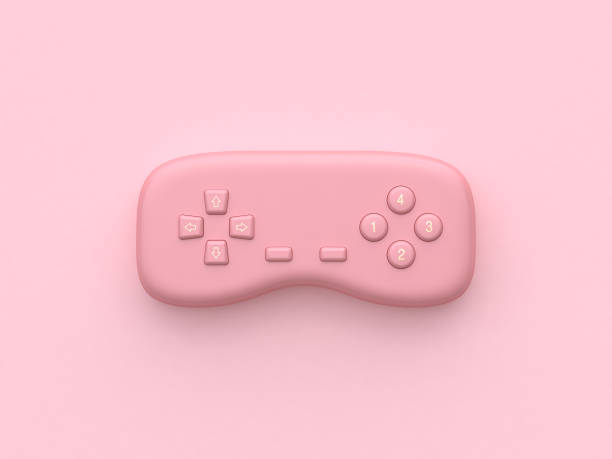 pink minimal abstract technology equipment video games joystick 3d rendering pink minimal abstract technology equipment video games joystick 3d rendering joystick stock pictures, royalty-free photos & images