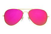 istock Pink mirror aviator sunglasses isolated on white background 1270396256