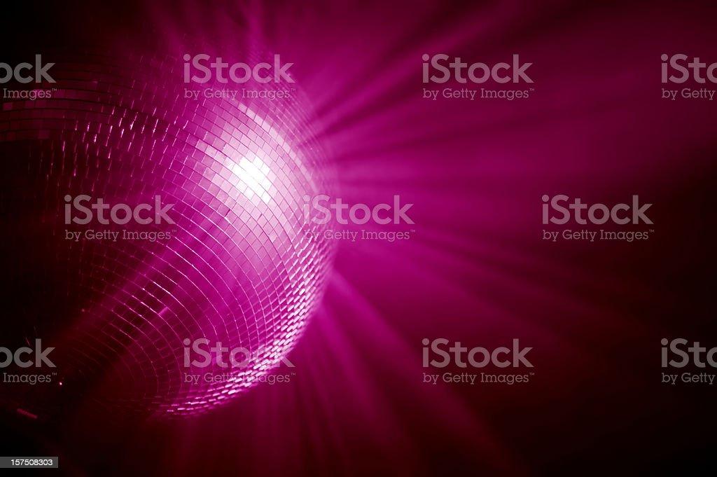 pink mirrorball royalty-free stock photo