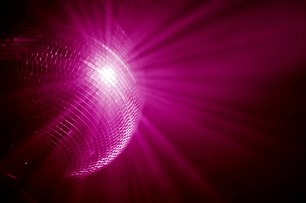 pink mirrorball stock photo